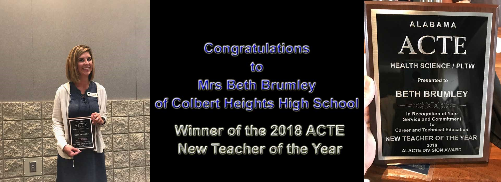 2018 ACTE New Teacher of the Year