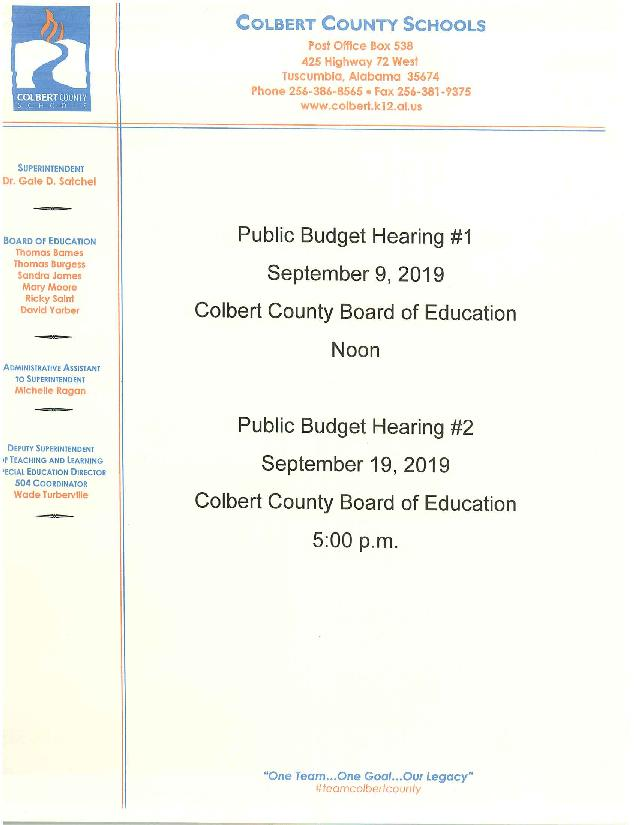 public budget hearing