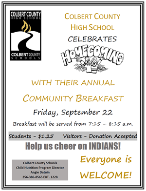 CCHS Homecoming Breakfast